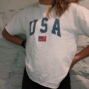 Brandy Melville White USA T-Shirt